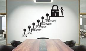 Office Wall Decal Teamwork Quote Wall Sticker Office Decor Inspire Office Quote Motivation Idea Wal In 2020 Office Wall Decals Office Walls Office Wall Design