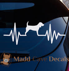 Beagle Ekg Decal Beagle Heartbeat Decal