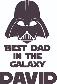 Darth Vader Best Dad Star Wars Cartoon Character Customized Wall Decal Custom Vinyl Wall Art Personalized Name Baby Girls Boy Kid Bedroom Decal Room Wall Art Sticker Decoration Size