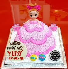 Bánh kem sinh nhật búp bê công chúa barbie TR1870022 - Bánh Kem Cẩm Châu -  Bánh Kem Cẩm Châu