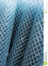 Rolls Of Shiny New Chain Link Fence Stock Image Image Of Shiny Supplies 45132909