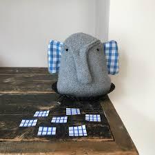knitted elephant dog toy soft dog