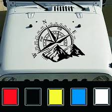 Wholesale Fashion Car Compass Rose Navigate Offroad Vinyl Sticker Decal Car Auto Decoration Black From China