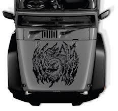 Jeep Hood Eagle Decal Sticker Midwest Sticker Shop