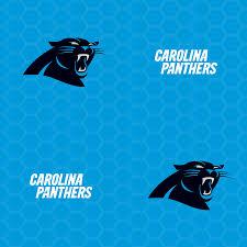 carolina panthers logo pattern blue