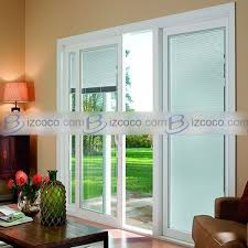 sliding glass doors with built in
