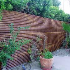 Corrugated Metal Fence Houzz