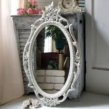 white shabby chic mirror on wanelo