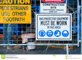 Safety And Security On Construction Site Stock Photo Image Of Information Caution 85660410