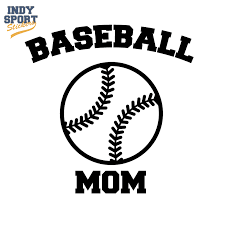Baseball Mom Text With Silhouette Ball Car Stickers And Decals