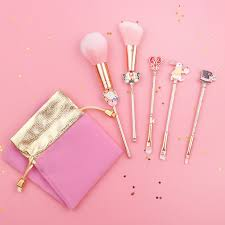 pretty pink and gold makeup pouch