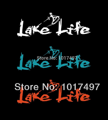 Ebay Hot Large 10 75 X4 Lake Life Vinyl Car Decal Sticker Wakeboard Wake Skate Wake Surf Boat S2023 Boat Towables Boat Toolsboat Float Aliexpress