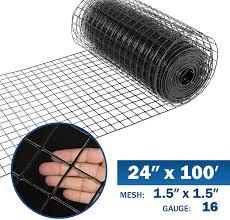 Fencer Wire 16 Gauge Black Vinyl Coated Welded Wire Mesh Size 1 5 Inch By 1 5 Inch 2 Ft X 100 Ft Walmart Com Walmart Com