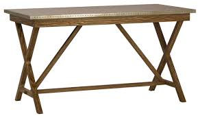 rustic zinc top desk industrial