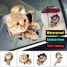 1pcs 3d Cat Sticker Waterproof Creative Car Windows Sticker Home Wall Car Ornament Decals Diy Decor Size S L Wish