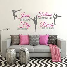 Large Gymnast Quote Wall Decal Inspirational Quote Sport Dance Motivational Vinyl Wall Sticker Home Decor Girl Room Mural 3838 Wall Stickers Aliexpress