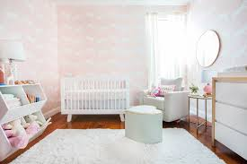 a pink bunny nursery with target