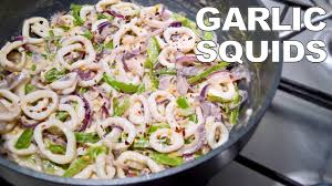 Creamy Butter Garlic Squid Rings Recipe ...