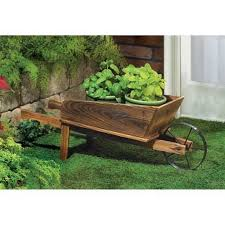 wood wheelbarrow wheel barrow wagon