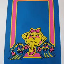 Ms Pac Man Front Decal Phoenix Arcade 1 Source For Screen Printed Arcade Artwork