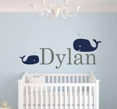 Amazon Com Custom Whale Name Wall Decals For Boys Baby Room Decor Nursery Wall Decals Boys Room Decor Nursery Nautical Wall Decals 44wx20h Baby