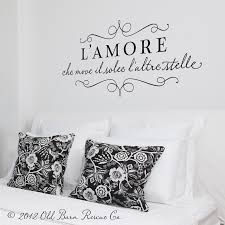 L Amore Wall Decals Home Decor Italian For Love That Moves The Sun And Other Stars Monogram Wall Decals Monogram Wall Wall Decals