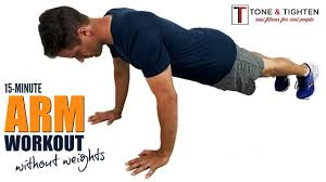 home arm workout without weights