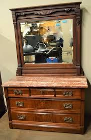 eastlake victorian marble top dresser