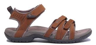 women leather matt rust strappy sandals