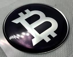 2 Pcs X Bitcoin Sticker O 50mm Vintage Logo Domed 3d Etsy