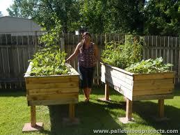 pallet wood raised garden beds pallet