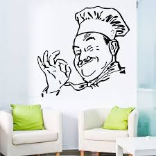 Fashion Wall Sticker Art Kitchen Decal Chef Hand Than Ok Decorative Vinyl Wall Stickers Remove Vinyl Stickers Lx411 Wall Stickers Aliexpress