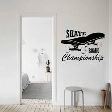 Skate Board Wall Decal Skateboard Vinyl Stickers Extreme Sport Logo Home Interior Housewares Design Bedroom Home Decor Wl1497 Wall Stickers Aliexpress