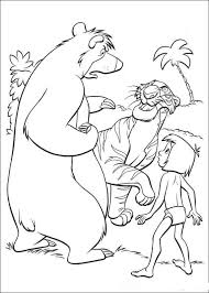 Kleurplaat Jungle Boek Jungle Book Coloring Pictures Cartoon