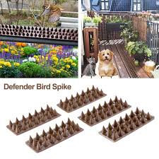 5pcs Set Harmless Plastic Defender Bird Spike Wild Cat Fence Spikes Yard Proof Bird Spikes Fence For Anti Climbing Security On Wall Window Railing Walmart Com Walmart Com