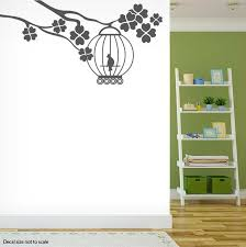 Tree Branch With A Birdcage Wall Decal Sticker
