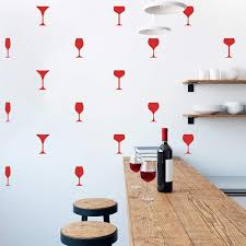 Amazon Com Set Of 25 Vinyl Wall Art Decal Wine Glass Set From 6 X 2 Each Trendy Adhesive Sticker Wine Glasses For Home Bar Bedroom Kitchen Living Room Office