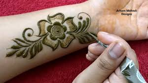 front mehndi design easy for kids