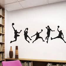 Basketball Wall Decal Sports Wall Diy Vinyl Stickers Basketball Player Decal Kids Boy Room Wall Art Basketball Vinyl Mural Jan10 Buy At The Price Of 2 35 In Aliexpress Com Imall Com