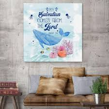 My Salvation Comes From The Lord Jonah 2 9 Christian Wall Art Christ Follower Life