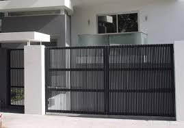 Modern Designed Aluminium Steel Gates Dubai Uae Al Ameen Steel Fabrication Engineering Llc