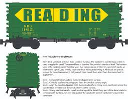 Reading Billboard Decals For The Pullman Ps 1 Boxcar Brick Model Railroader