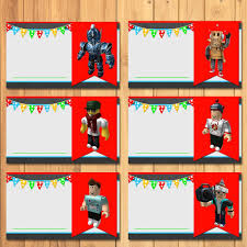 Roblox Food Tents Chalkboard Roblox Birthday Party Favors Etsy