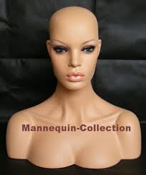 china realistic mannequin head bust