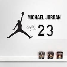 Basketball Michael Jordan Wall Decal Sticker Removable Wall Art Decals Decor Wall Mural Decal Sti Basketball Wall Decals Wall Decor Stickers Wall Decal Sticker