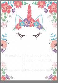 Tarjeta Unicornio Invitacion De Unicornio Invitaciones