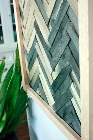 and easy wall art using wood shims
