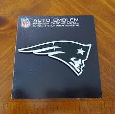 New England Patriots Logo Chrome Metal Nfl Auto Emblem Car Truck Football Decal 909021102