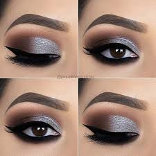 eyes makeup stylish silver eye makeup