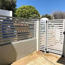 China Powder Coated Aluminum Whole Privacy Horizontal Slat Fencing Garden Fence Security Fence China Garden Fence Metal Fence